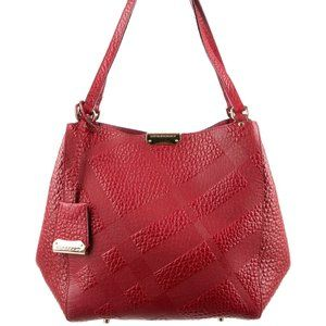 Burberry Embossed Leather Canterbury Hobo Bag